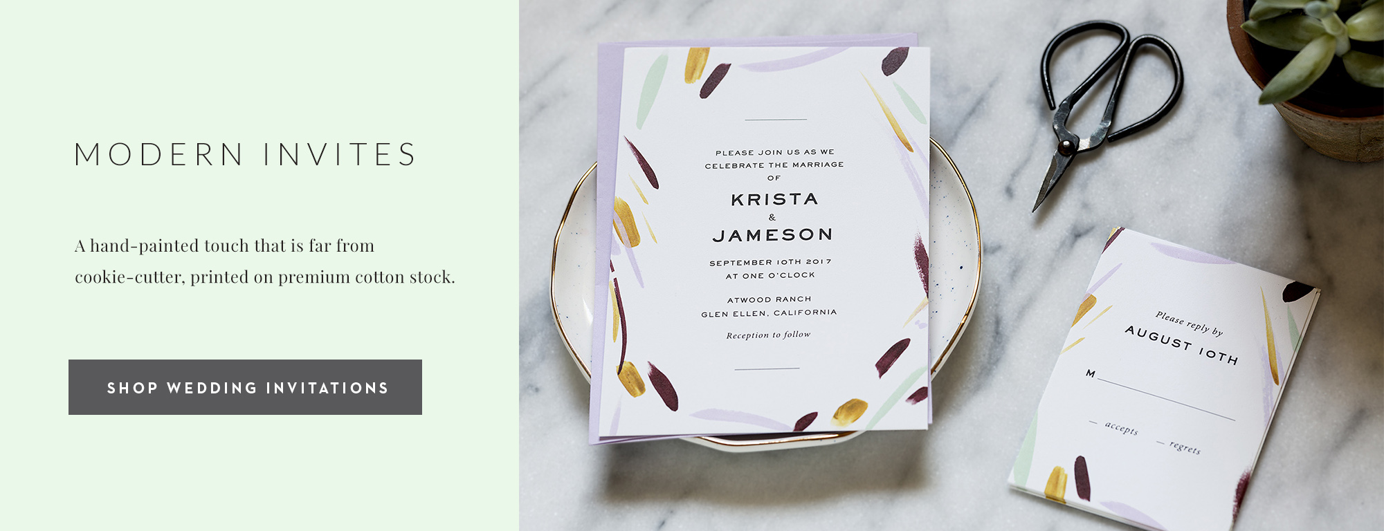 Modern Wedding Invitations by Fine Day Press, Austin, Texas - Fine ...