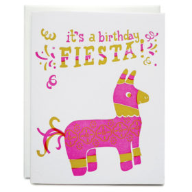 Birthday card, Letterpress, Fiesta