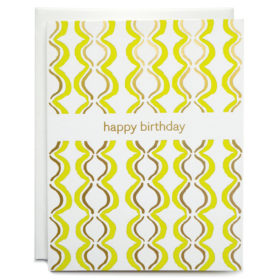 Birthday card, Letterpress