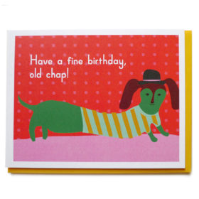Birthday Card, Weiner Dog