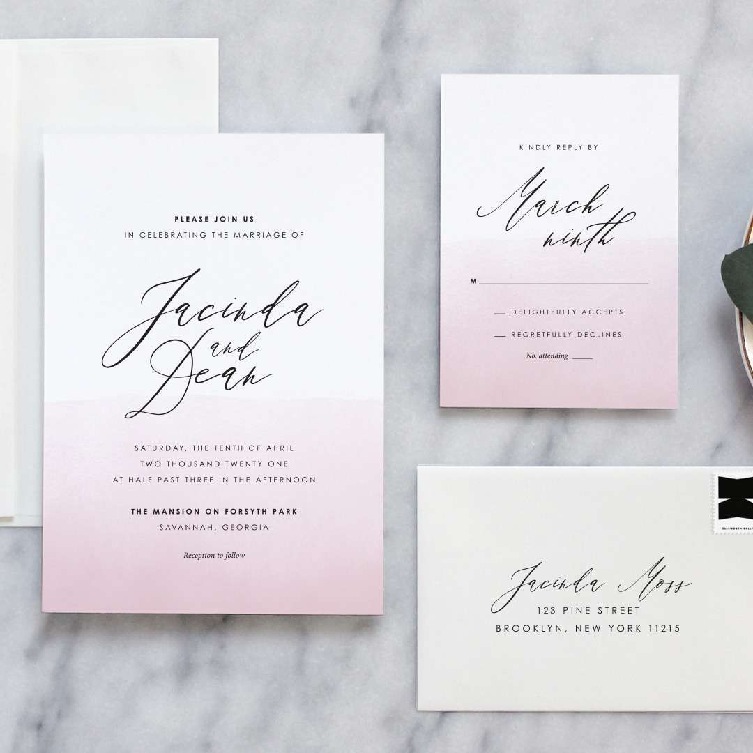 ombre wedding invitations