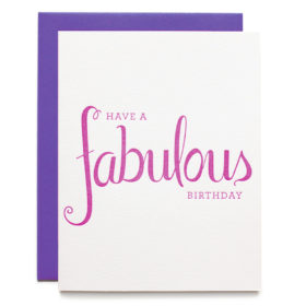 Birthday card - Fabulous Birthday