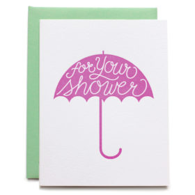 Bridal Shower Card, Baby Shower Card