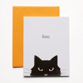 Boo Halloween Cat