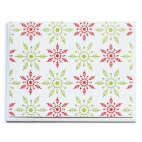 Christmas card, Snowflake Pattern