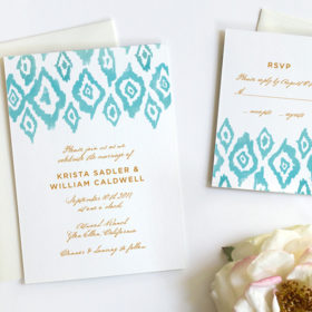 Watercolor collection archives fine day press ikat watercolor wedding invitations junglespirit Image collections