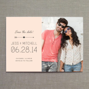 Arrow Heart Save the Date