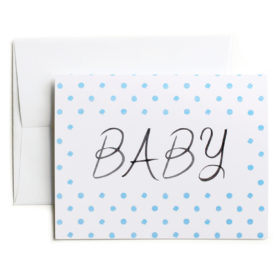 Baby Congratulations card, Blue