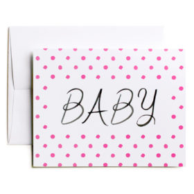 Baby Congratulations card, Pink