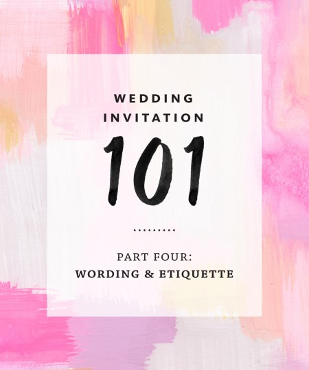 4th Wedding Gift Etiquette : ... fourth installment of our Invitation 101 series, all about wedding