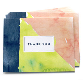 Thank You Notes, Abstract Watercolor