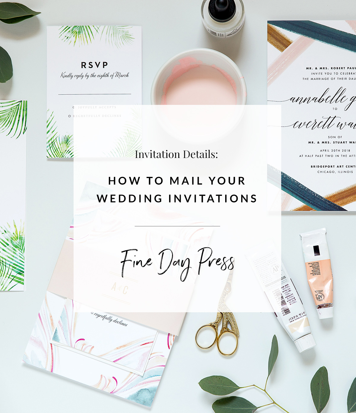How to Mail Wedding Invitations - Fine Day Press