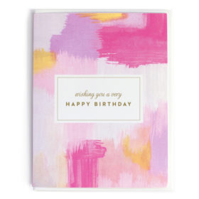 Birthday Card, Abstract Pink