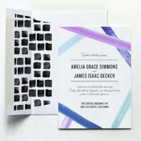 Ribbon Watercolor Wedding Invitation by Fine Day Press