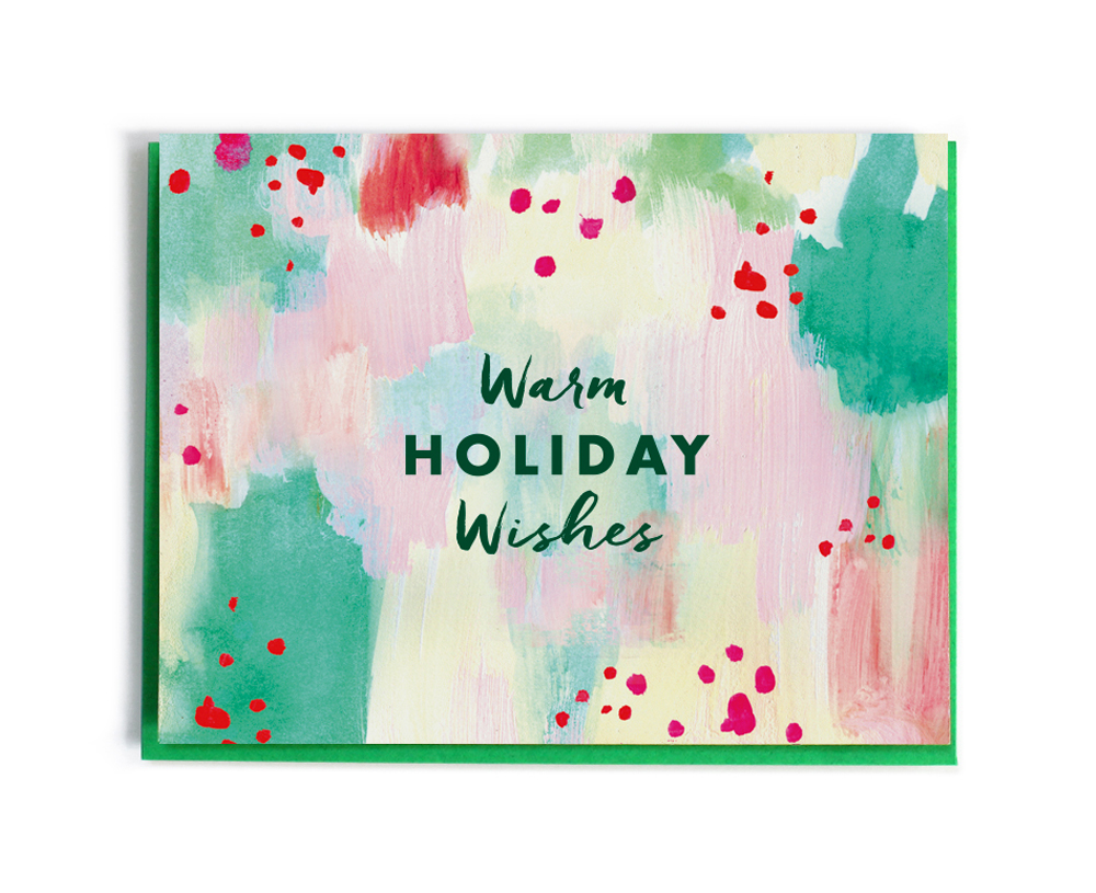 Christmas card, Warm Holiday Wishes - Fine Day Press