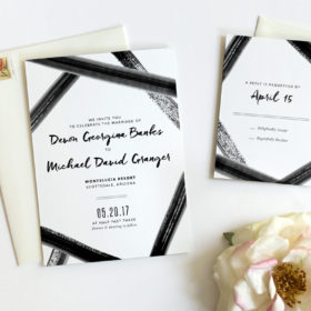 Black Tie Wedding Invitation by Fine Day Press