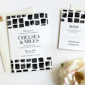 Mosaic Wedding Invitation by Fine Day Press