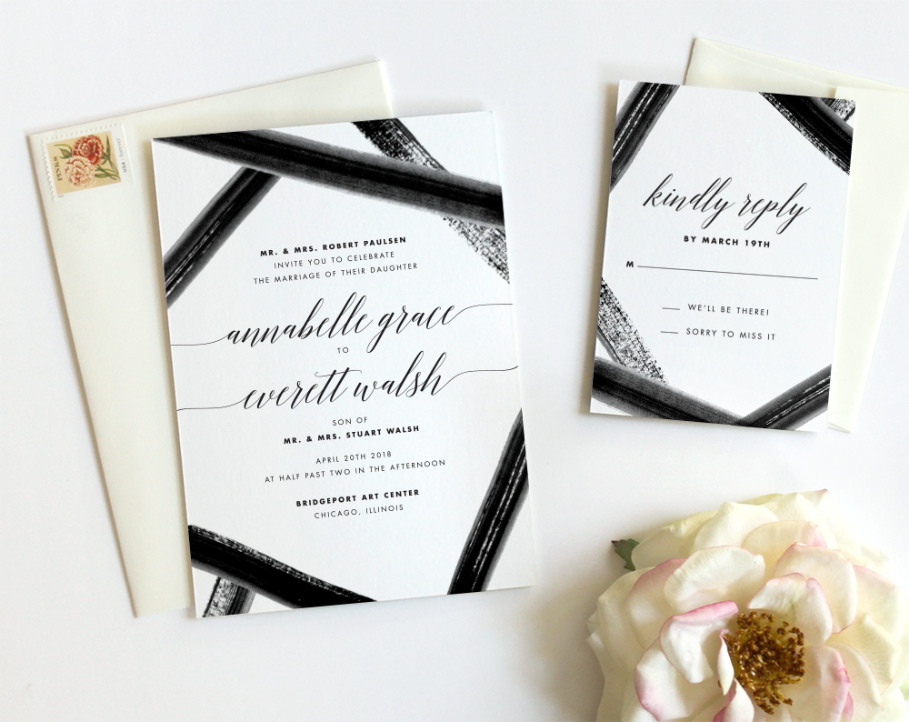 Watercolor Wedding Invitations by Fine Day Press, Austin, Texas ...