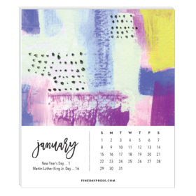 Abstract Desk Calendar Refill