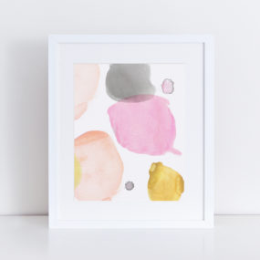 Minimal Watercolor Art Print