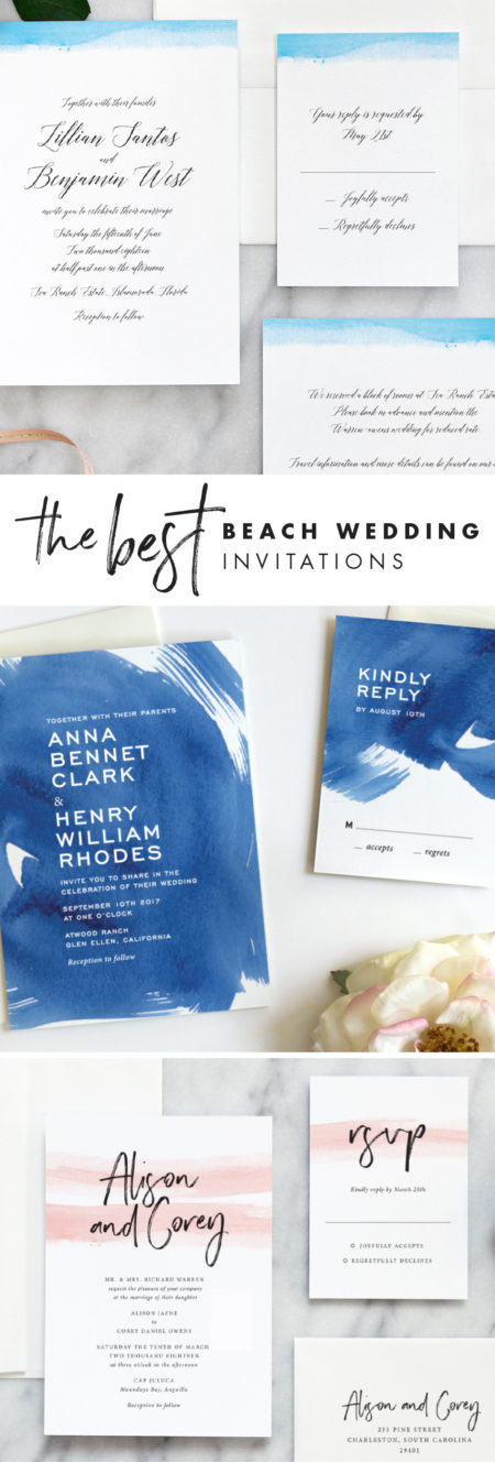 Our top beach wedding invitations