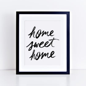 Brush Lettering Art Print Home Sweet Home