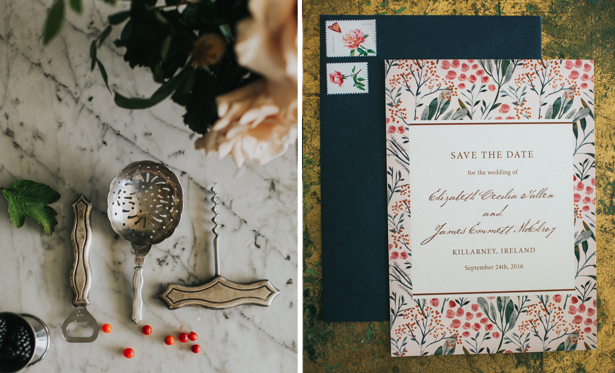 Vintage Wedding Ideas: Romantic Invitation Suite by Fine Day Press, Austin, Texas
