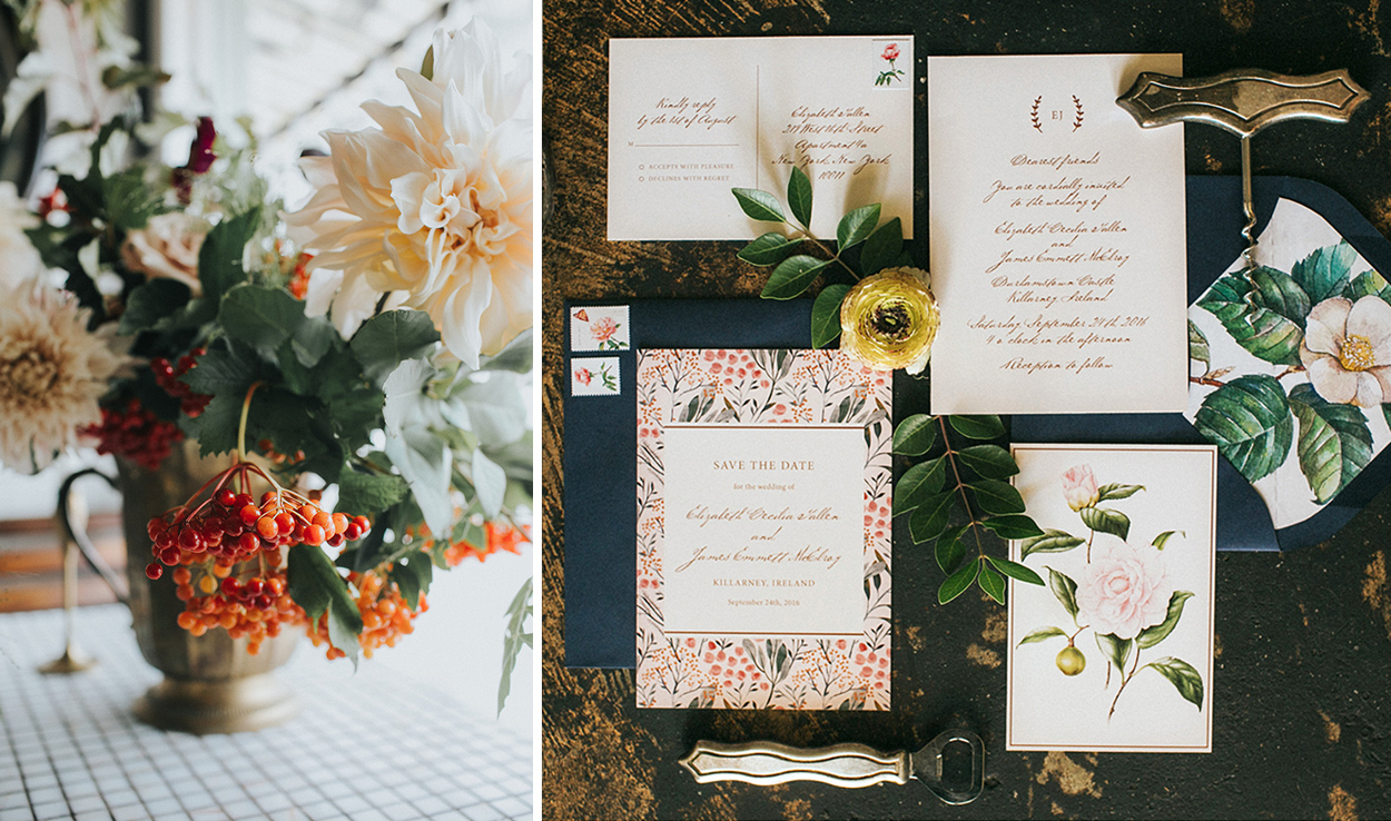Romantic Wedding Ideas: Vintage-Inspired Invitation Suite by Fine Day Press, Austin, Texas