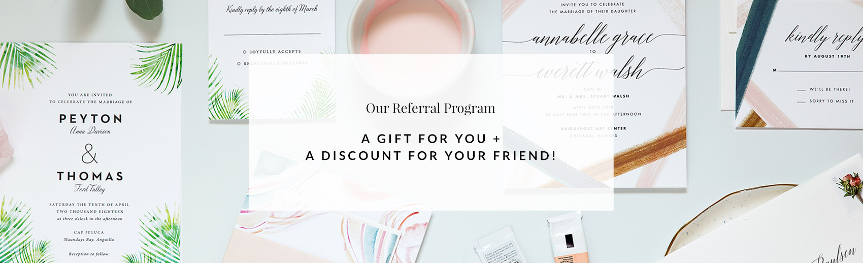 Wedding Invitations, Modern, Simple, Elegant, by Fine Day Press Austin Texas - Referral Program