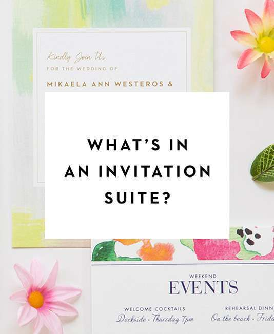 What's in a Wedding Invitation button