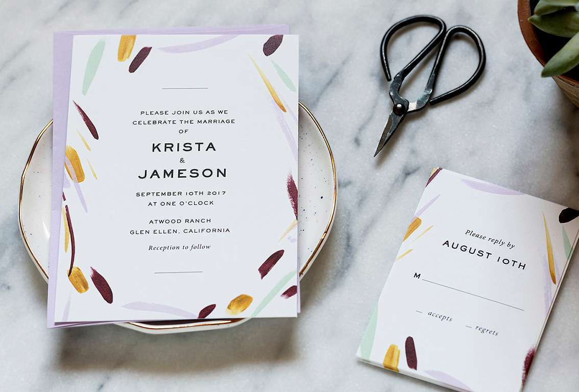 Modern wedding invitations, simple elegant wedding invitations