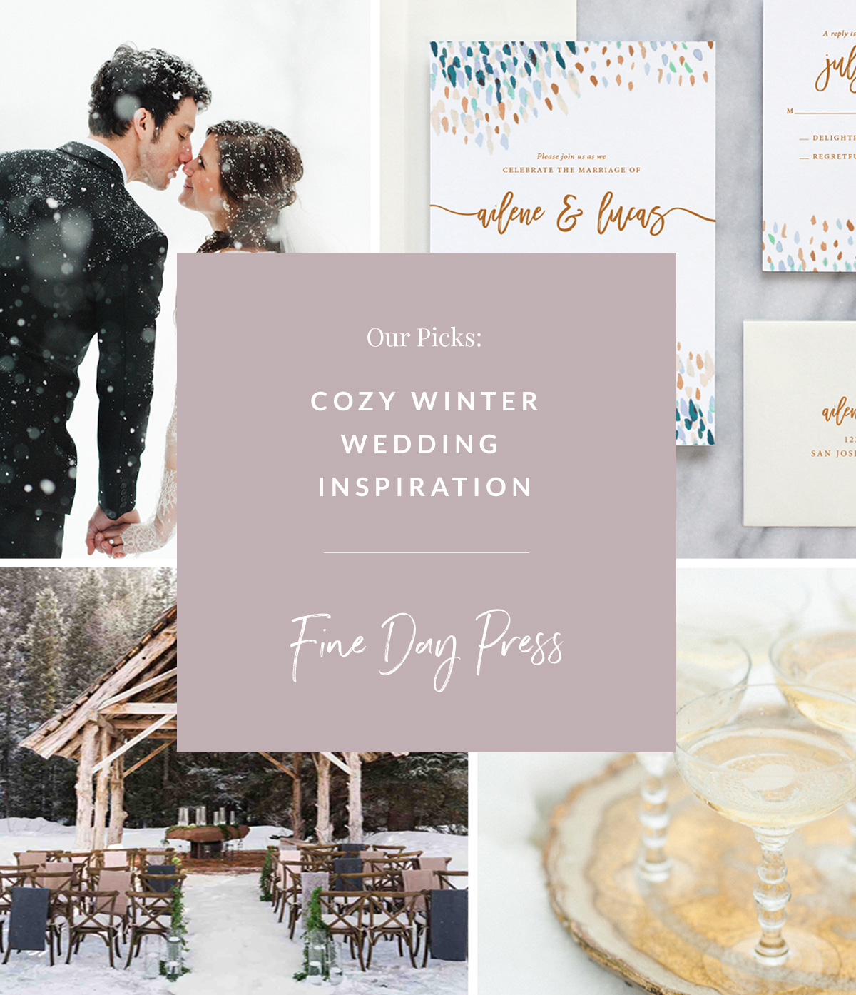 Wedding Ideas And Inspirations: Romantic Winter Wedding Inspiration