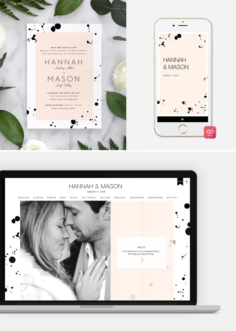 coordinate invitations with your wedding website with fine With matching wedding invitations and website