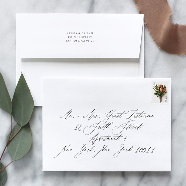 How To Address Wedding Invitation Envelopes Fine Day Press
