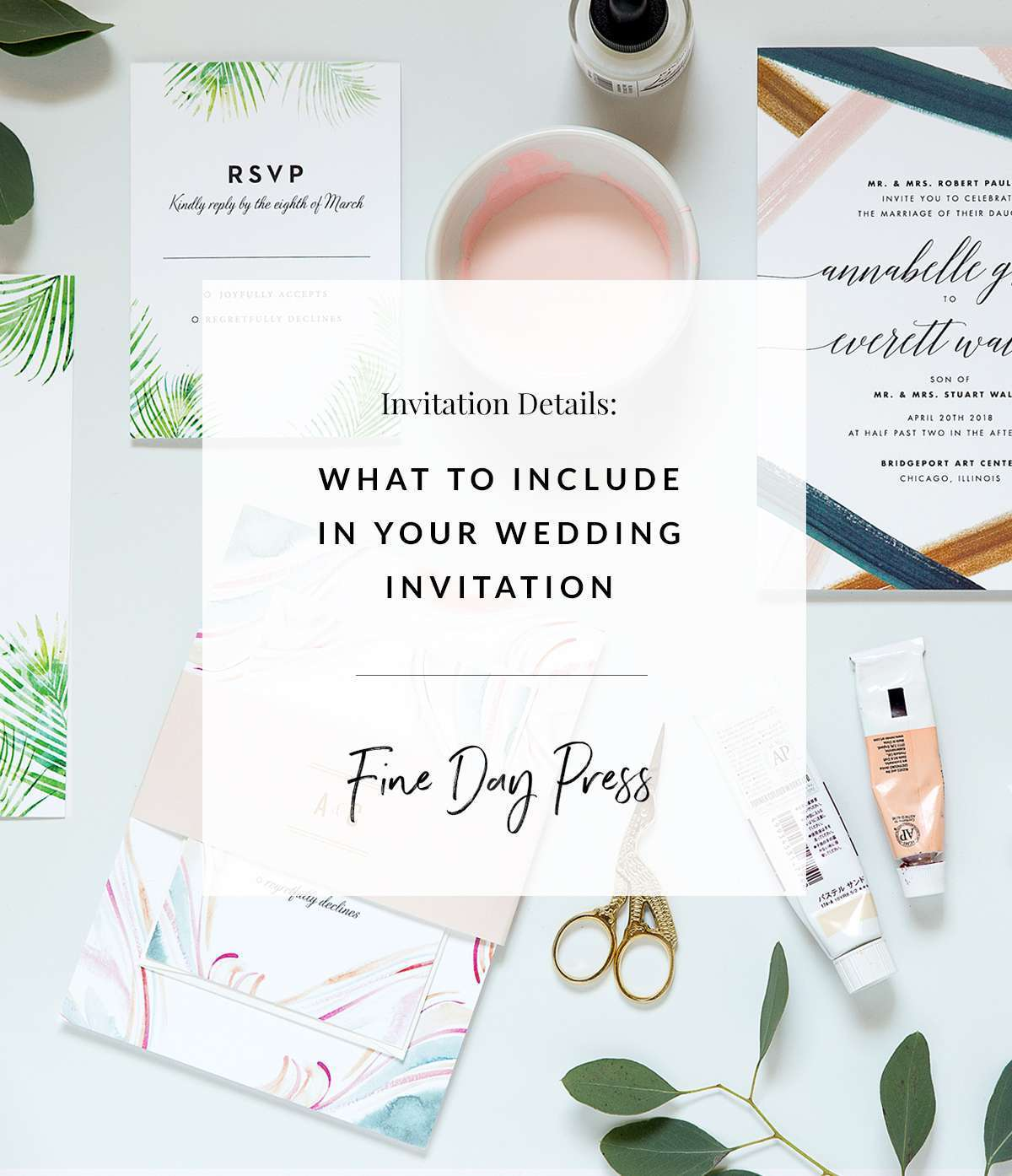 What to Include in Your Wedding Invitation Suite - Fine Day Press