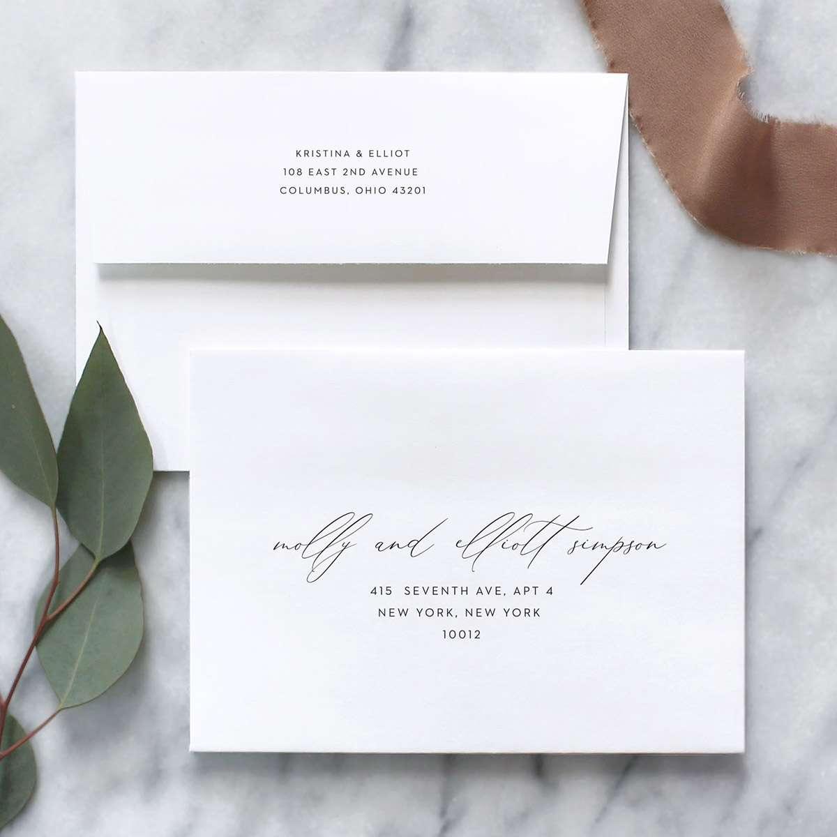 Graceful Script Save the Date Announcement Card  AA8169
